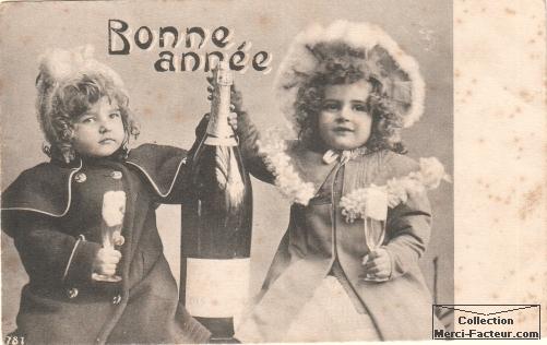 carte-postale-ancienne-voeux-enfants-champagne